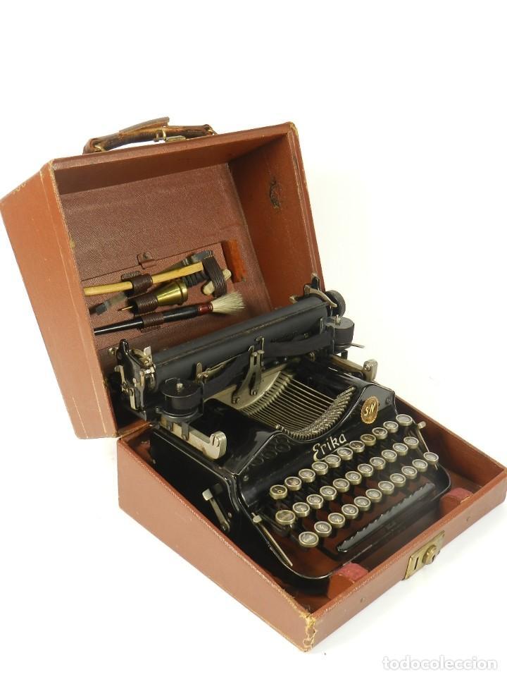 Antigüedades: MAQUINA DE ESCRIBIR ERIKA Nº3 AÑO 1917 PLEGABLE TYPEWRITER SCHREIBMASCHINE - Foto 9 - 191694555