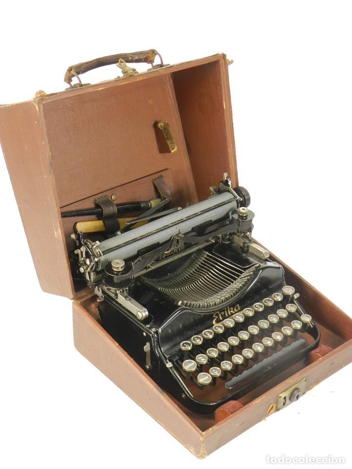 MAQUINA DE ESCRIBIR ERIKA Nº3 AÑO 1917 PLEGABLE TYPEWRITER SCHREIBMASCHINE (Antigüedades - Técnicas - Máquinas de Escribir Antiguas - Erika)