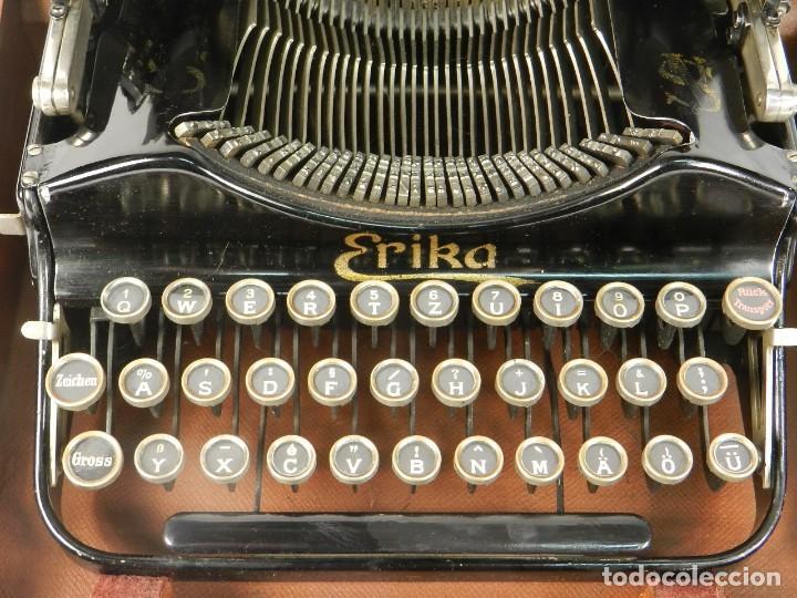 Antigüedades: MAQUINA DE ESCRIBIR ERIKA Nº3 AÑO 1917 PLEGABLE TYPEWRITER SCHREIBMASCHINE - Foto 3 - 191695477