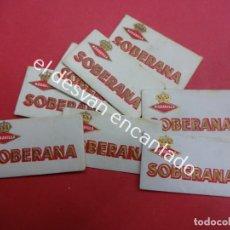 Antigüedades: LOTE 8 CUCHILLAS AFEITAR MARAVILLA SOBERANA. Lote 191725351
