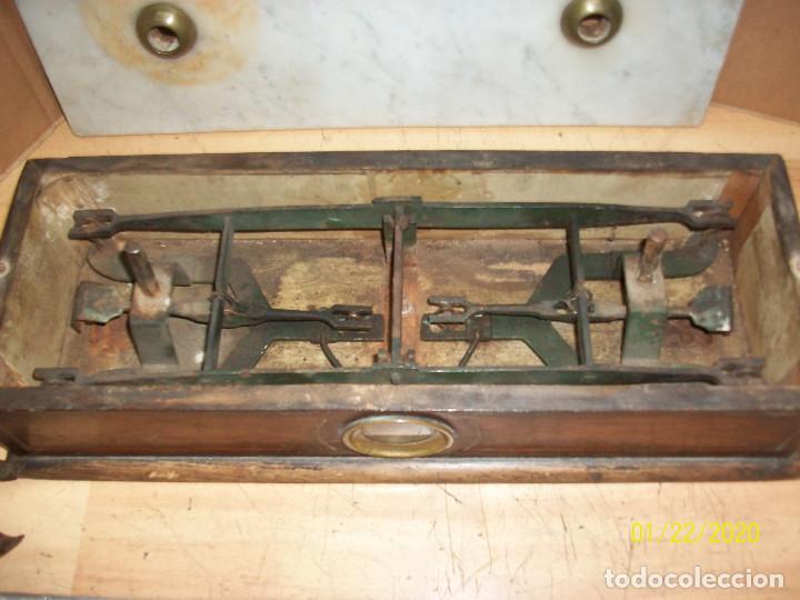 Antigüedades: ANTIGUA BALANZA FRANCESA-TAPA DE MARMOL - Foto 8 - 191752970