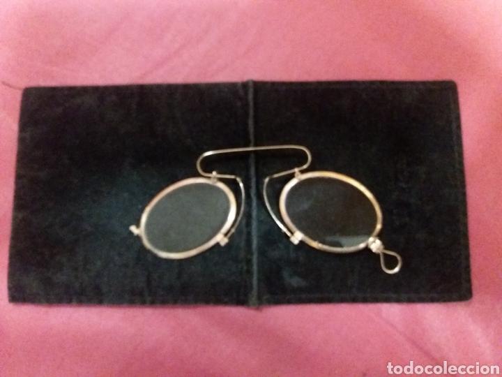Antigüedades: lentes antiguas ,Quevedo de oro 14 k. - Foto 2 - 191757213