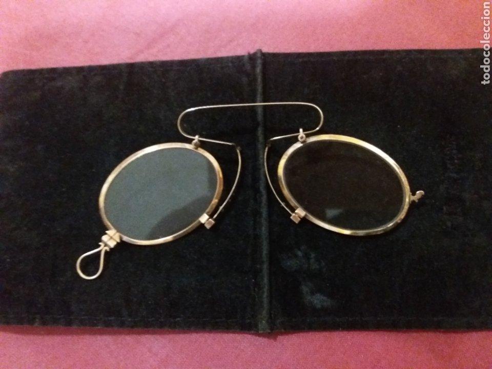LENTES ANTIGUAS ,QUEVEDO DE ORO 14 K. (Antigüedades - Técnicas - Instrumentos Ópticos - Gafas Antiguas)