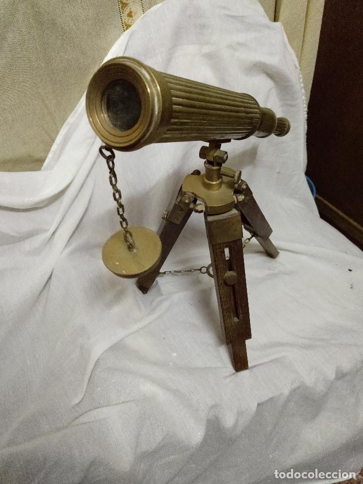 Antigüedades: Catalejo extensible con tripode. - Foto 6 - 191826810