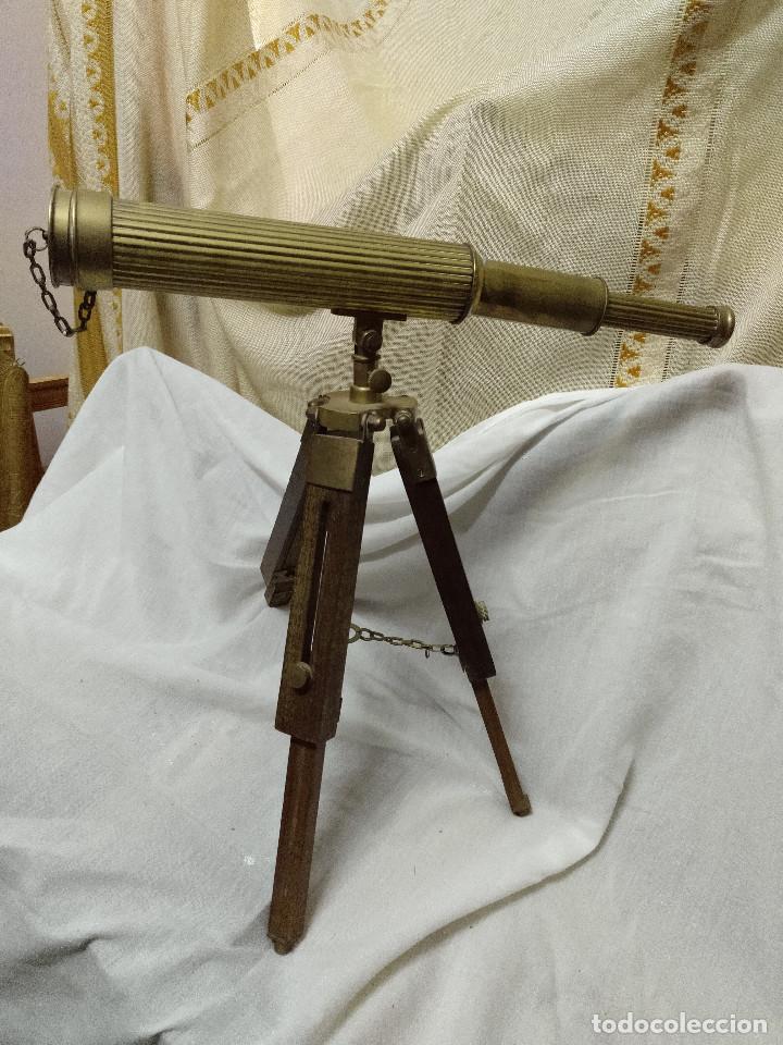 Antigüedades: Catalejo extensible con tripode. - Foto 9 - 191826810