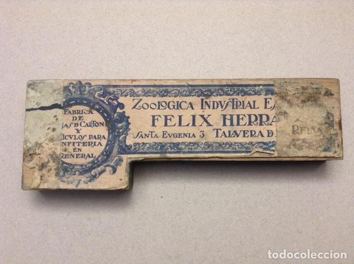 Antigüedades: SELLO DE FÁBRICA DE CARTÓN(TALAVERA DE LA REINA) - Foto 2 - 191832536