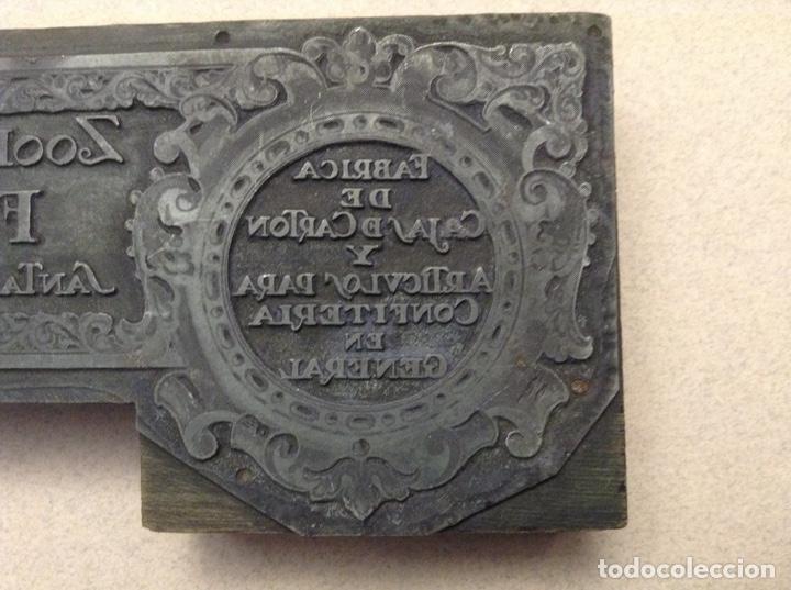Antigüedades: SELLO DE FÁBRICA DE CARTÓN(TALAVERA DE LA REINA) - Foto 4 - 191832536