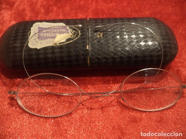 Antigüedades: Gafas antiguas funda original siglo xix buena conservacion - Foto 2 - 191839812