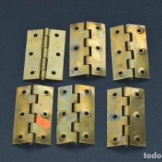 Antigüedades: BISAGRAS DE METAL 6 DE 8 CM DE LARGO POR 4,5 CM DE ANCHO NUEVAS. Lote 191842431