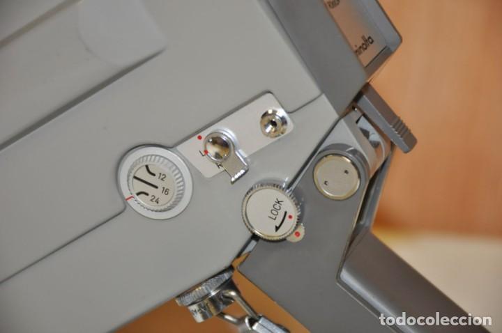 Antigüedades: MINOLTINA 8 - Cámara de cine de doble 8 mm fabricada por Minolta en 1975. - Foto 4 - 191879088