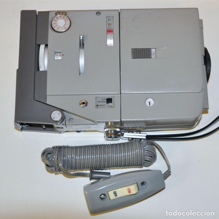Antigüedades: MINOLTINA 8 - Cámara de cine de doble 8 mm fabricada por Minolta en 1975. - Foto 5 - 191879088