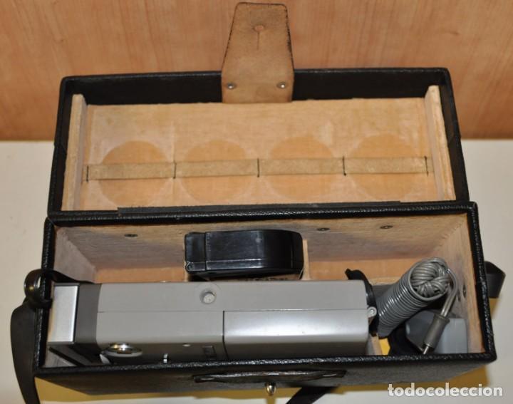 Antigüedades: MINOLTINA 8 - Cámara de cine de doble 8 mm fabricada por Minolta en 1975. - Foto 6 - 191879088