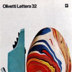 Antigüedades: MAQUINA DE ESRIBIR: OLIVETTI LETTERA 32, 1963. Lote 191889012