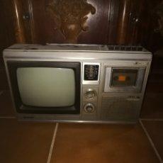 Antigüedades: RADIO TELEVISOR Y CASET ANTIGUO. Lote 191913045