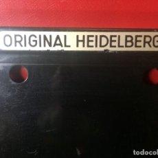Antigüedades: RODILLERO PARA 4 RODILLOS HEIDELBERG ASPAS 500MM. ALTO. MUY BUEN ESTADO.. Lote 192057703