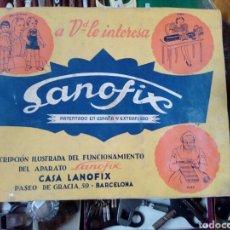 Antigüedades: CATALOGO MAQUINA TRICOTOSA COSER - MARCA LANOFIX - DE BARCELONA. Lote 192100398