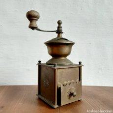 Antigüedades: ANTIGUO MOLINILLO DE CAFÉ * LATÓN * 25CM ALTO. Lote 192132450
