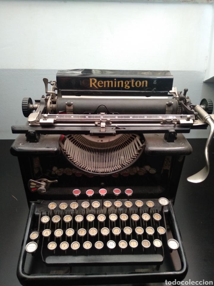 Antigüedades: Antigua máquina de escribir Remington 1930 - Foto 3 - 192132628