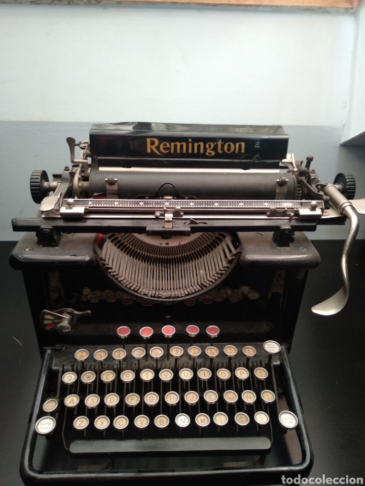 Antigüedades: Antigua máquina de escribir Remington 1930 - Foto 4 - 192132628