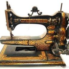 Antigüedades: ANTIGUA MAQUINA DE COSER ARM & PLATFORM DEL SIGLO XIX ESPECTACULAR DE MUSEO AÑO 1878 RARA. Lote 192146433