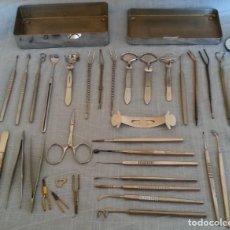 Antigüedades: INSTRUMENTAL QUIRÚRGICO. AÑOS 60-70. MAGNÍFICO ESTADO DE TODO EL INSTRUMENTAL.. Lote 192159596