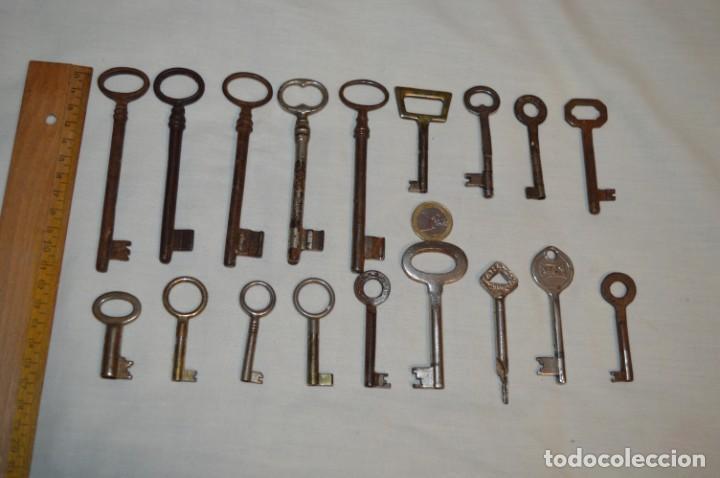 Antigüedades: Lote 01 -- Compuesto por 18 llaves variadas antiguas - ¡Mirar fotos y detalles! - Foto 2 - 192168578
