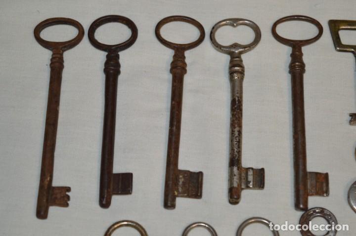 Antigüedades: Lote 01 -- Compuesto por 18 llaves variadas antiguas - ¡Mirar fotos y detalles! - Foto 3 - 192168578