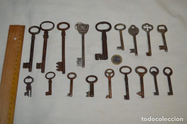 Antigüedades: Lote 02 -- Compuesto por 18 llaves variadas antiguas - ¡Mirar fotos y detalles! - Foto 2 - 192170540