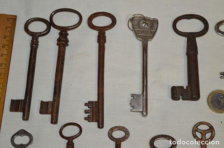 Antigüedades: Lote 02 -- Compuesto por 18 llaves variadas antiguas - ¡Mirar fotos y detalles! - Foto 3 - 192170540