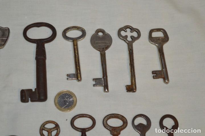Antigüedades: Lote 02 -- Compuesto por 18 llaves variadas antiguas - ¡Mirar fotos y detalles! - Foto 4 - 192170540