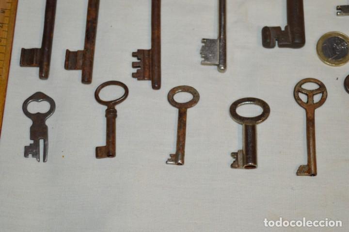Antigüedades: Lote 02 -- Compuesto por 18 llaves variadas antiguas - ¡Mirar fotos y detalles! - Foto 5 - 192170540