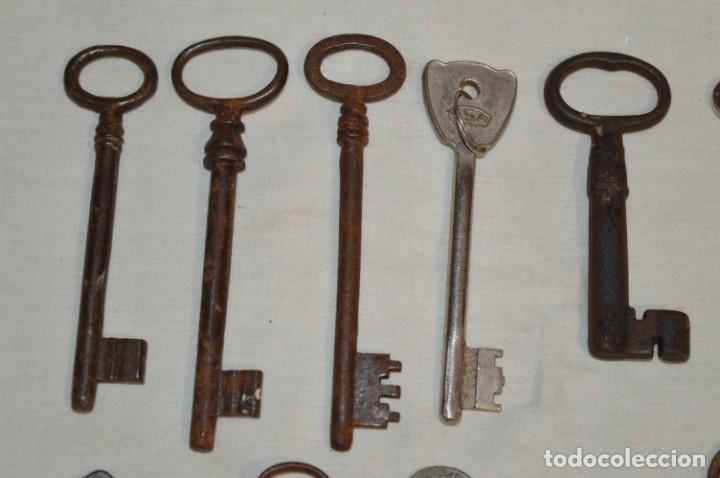 Antigüedades: Lote 02 -- Compuesto por 18 llaves variadas antiguas - ¡Mirar fotos y detalles! - Foto 7 - 192170540