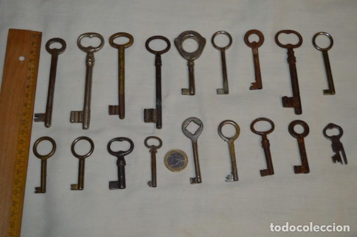 Antigüedades: Lote 03 -- Compuesto por 18 llaves variadas antiguas - ¡Mirar fotos y detalles! - Foto 2 - 192171897