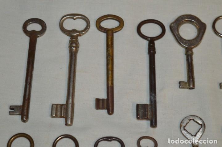 Antigüedades: Lote 03 -- Compuesto por 18 llaves variadas antiguas - ¡Mirar fotos y detalles! - Foto 3 - 192171897