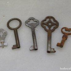Antigüedades: LOTE DE 5 LLAVES ANTIGUAS. Lote 192179890