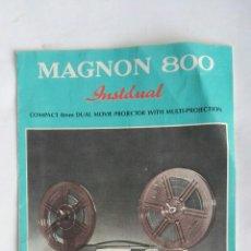Antigüedades: MAGNON 800 PROYECTOR INSTRUCCIONES DE USO EN INGLÉS. Lote 192195310