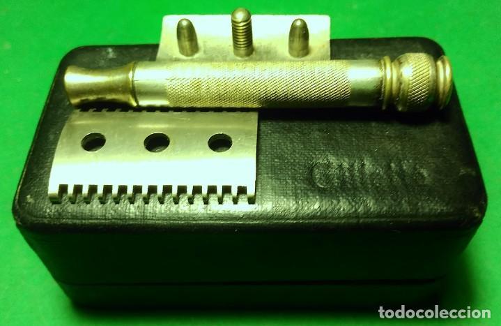 Antigüedades: GILLETTE antigua decada 1920 Made in U.S.A. PLATEADA con Caja. Maquinilla afeitar. Safety razor - Foto 3 - 192259635