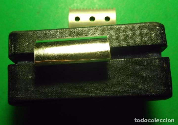 Antigüedades: GILLETTE antigua decada 1920 Made in U.S.A. PLATEADA con Caja. Maquinilla afeitar. Safety razor - Foto 4 - 192259635