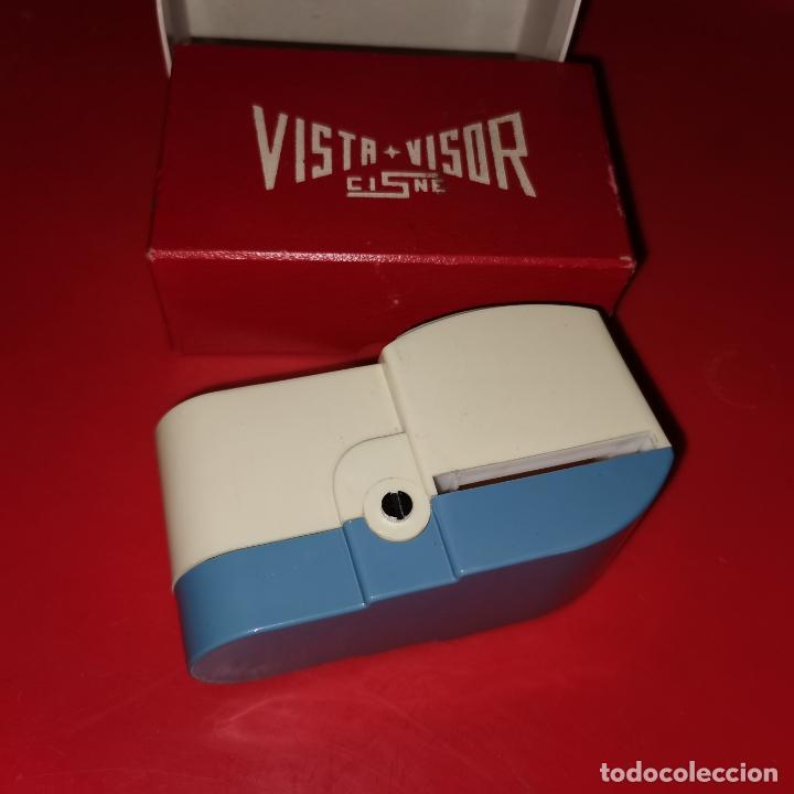 VISOR DE DIAPOSITIVAS VISTA VISOR, CISNE, A PILAS, SIN PROBAR, EN SU CAJA (Antigüedades - Técnicas - Otros Instrumentos Ópticos Antiguos)