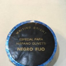 Antigüedades: CINTA PERLON GRAF NEGRO FIJO ESPECIAL PARA HISPANO OLIVETTI. Lote 192366841