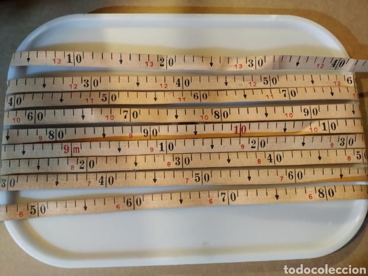 Antigüedades: Flexometro antiguo Freemans Record metal wired tape 20 metros - años 60/70 - Foto 10 - 192376530