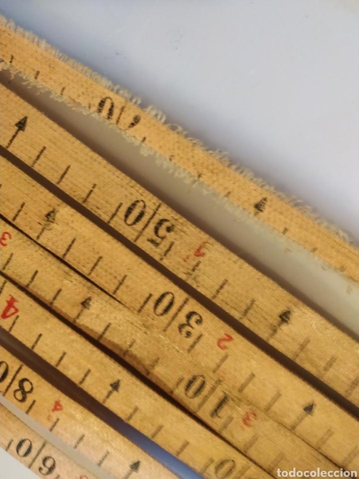 Antigüedades: Flexometro antiguo Freemans Record metal wired tape 20 metros - años 60/70 - Foto 21 - 192376530