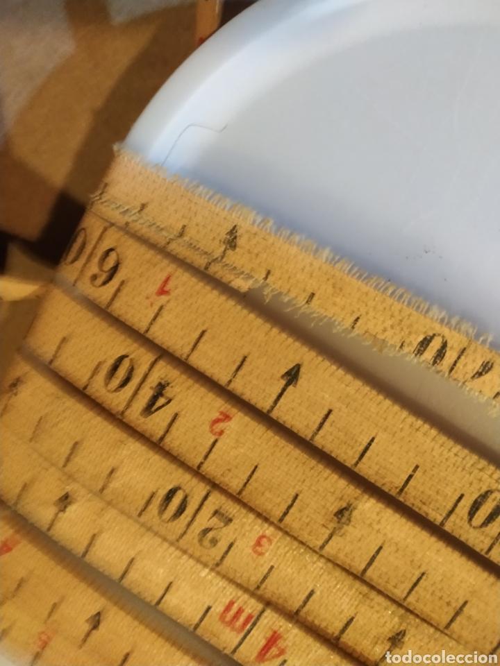 Antigüedades: Flexometro antiguo Freemans Record metal wired tape 20 metros - años 60/70 - Foto 22 - 192376530