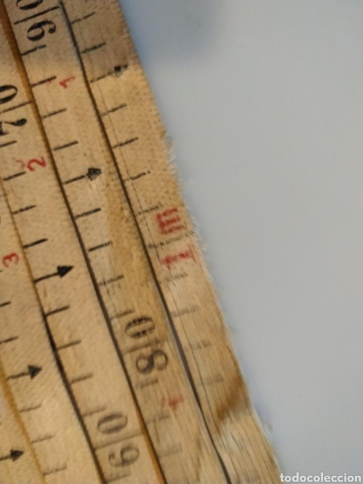 Antigüedades: Flexometro antiguo Freemans Record metal wired tape 20 metros - años 60/70 - Foto 25 - 192376530