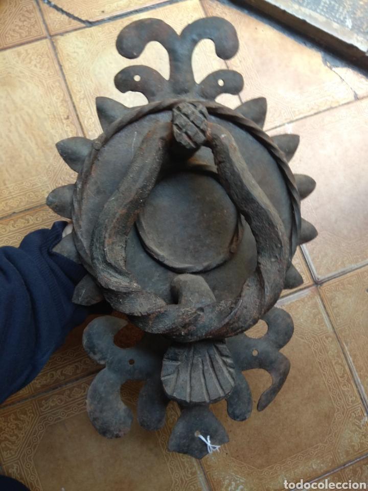 ANTIGUO LLAMADOR DE PUERTA - ALDABA DE FORJA - (Antigüedades - Técnicas - Cerrajería y Forja - Aldabas Antiguas)