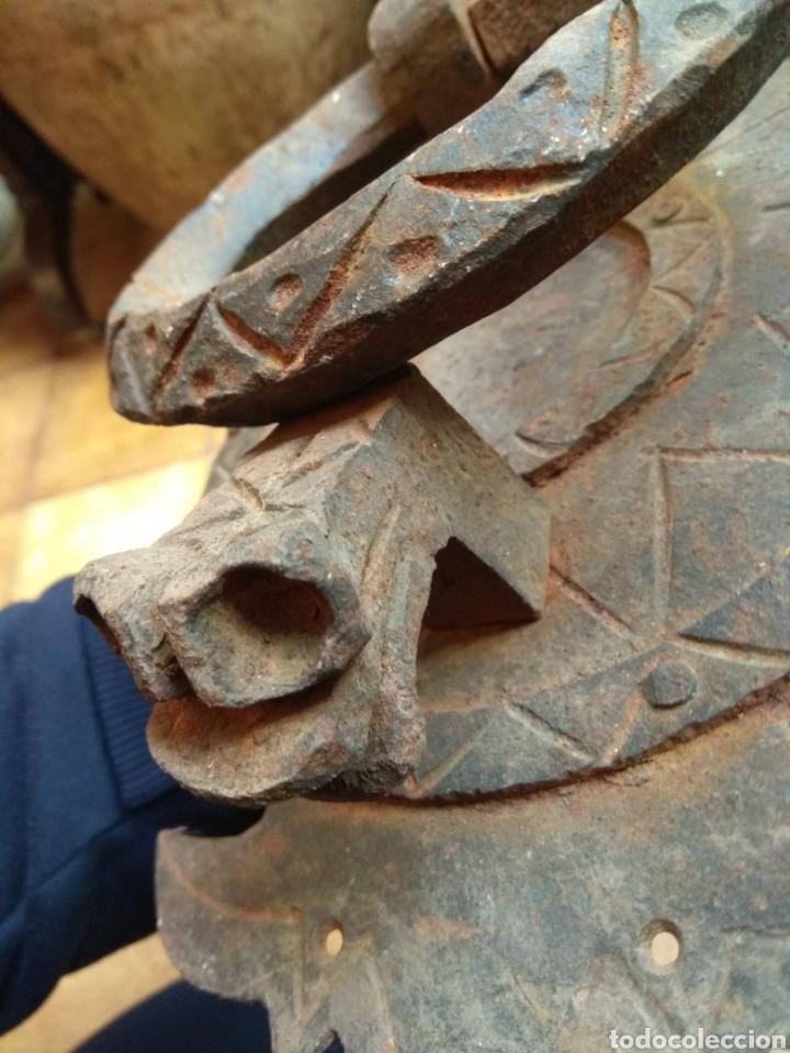 Antigüedades: Antiguo Llamador de Puerta - Aldaba de Forja - Zoomorfa - - Foto 6 - 192378186