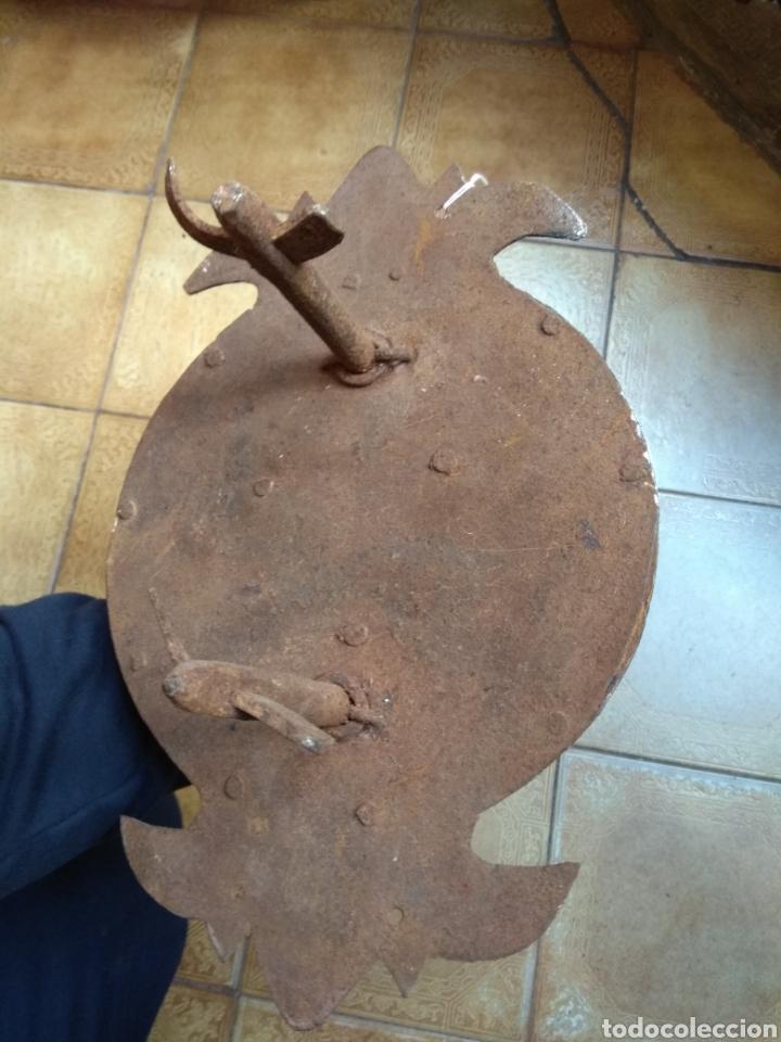 Antigüedades: Antiguo Llamador de Puerta - Aldaba de Forja - Zoomorfa - - Foto 10 - 192378186
