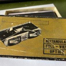 Antigüedades: PRISMATICOS BINOCULARES CON LENTES RECTANGULARES GREEN 3X, VISION COMPLETA, PARA TEATRO, DEPORTES. Lote 192441873