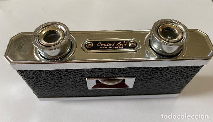 Antigüedades: Coleccion, Prismaticos binoculares con lentes rectangulares GREEN 3x, para teatro, deportes - Foto 2 - 192441873