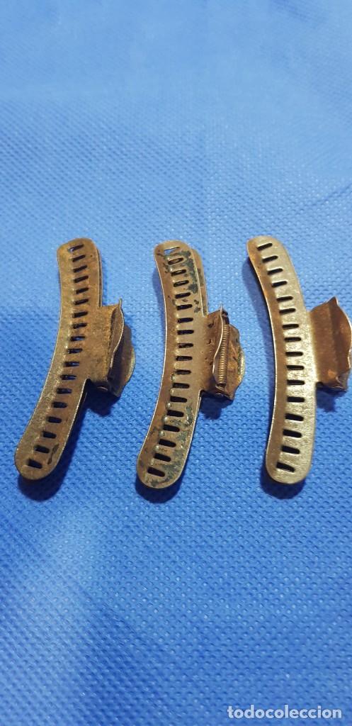 Antigüedades: 301-Lote 6 pinzas peluquería para hacer ondas al agua. Años 40 - Foto 4 - 192504921